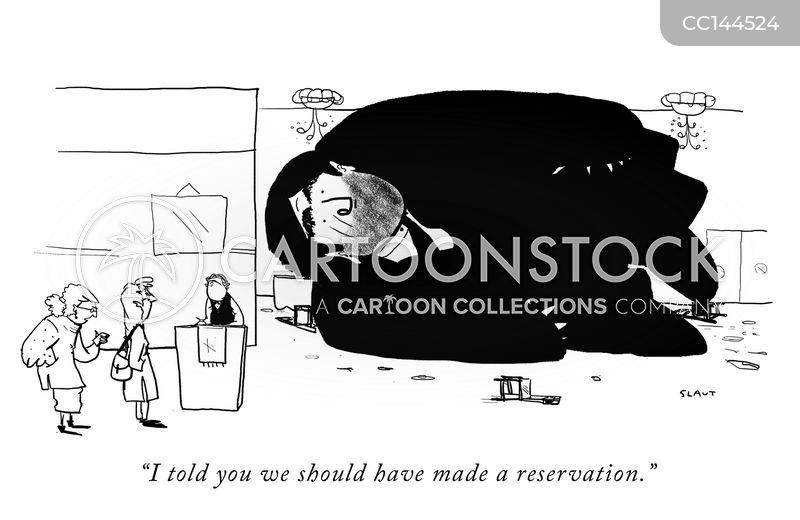 restaurant reservations cartoon