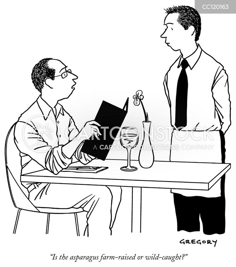 waitstaff cartoon