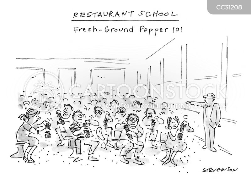 restaurant school cartoon