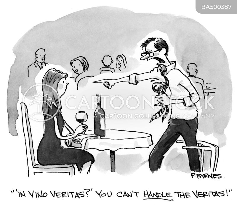 In Vino Veritas cartoon