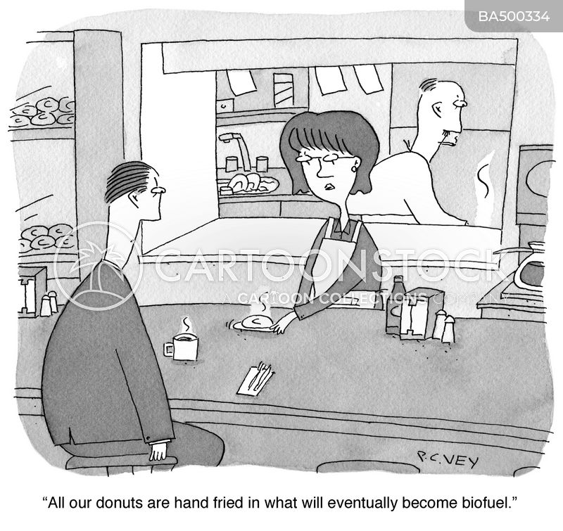 doughnut shop cartoon