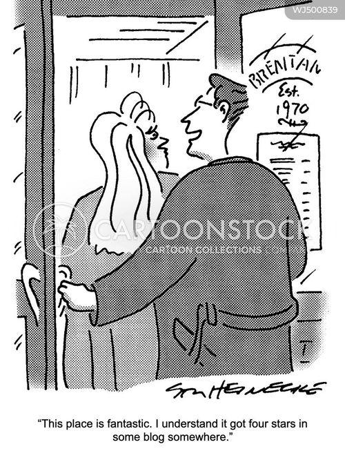 restaurant review cartoon