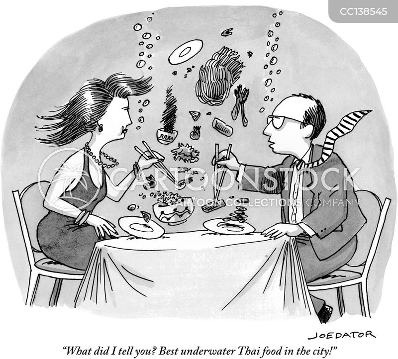 concept restaurants cartoon