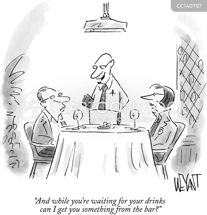 waiters cartoon