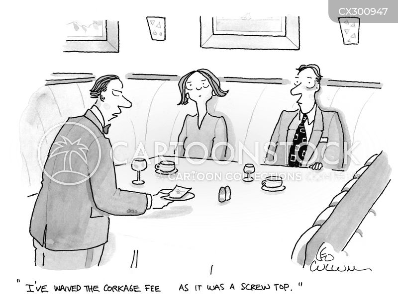 wine stewards cartoon