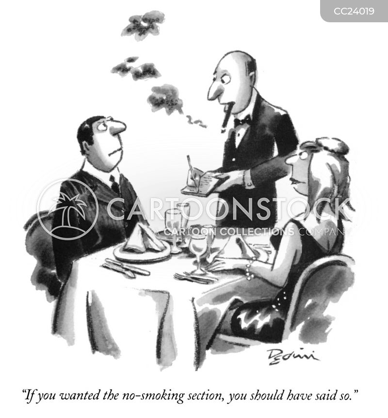 non-smoking cartoon