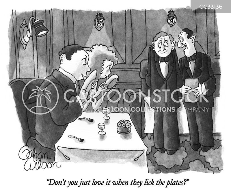 dining out cartoon