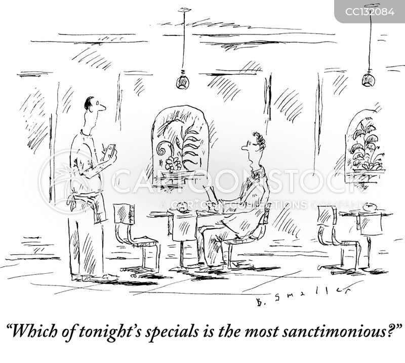 sanctimonious cartoon