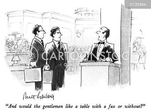 working lunch cartoon