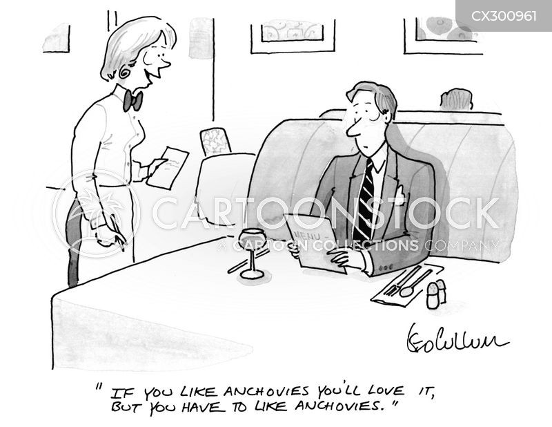 anchovies cartoon