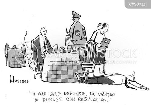 self defense cartoon
