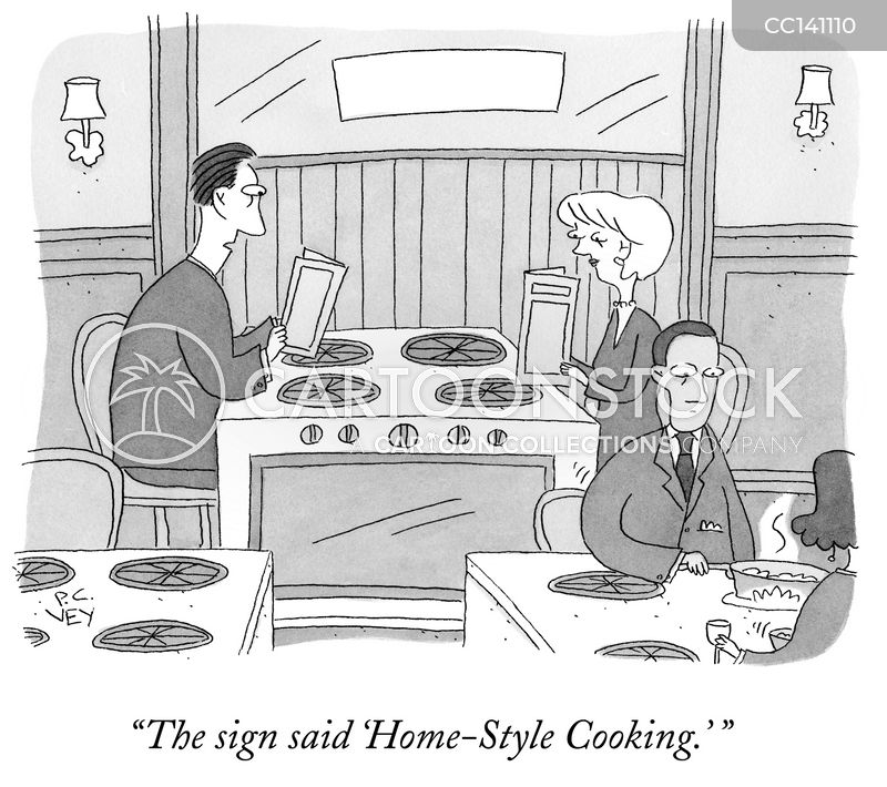 home cook cartoon