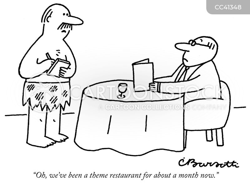 food service cartoon