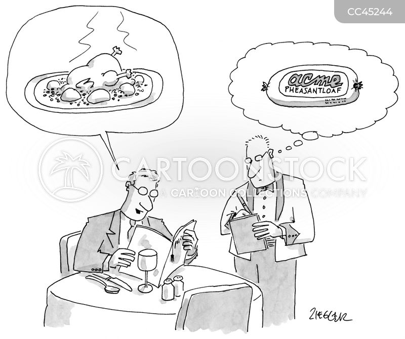 bad food cartoon