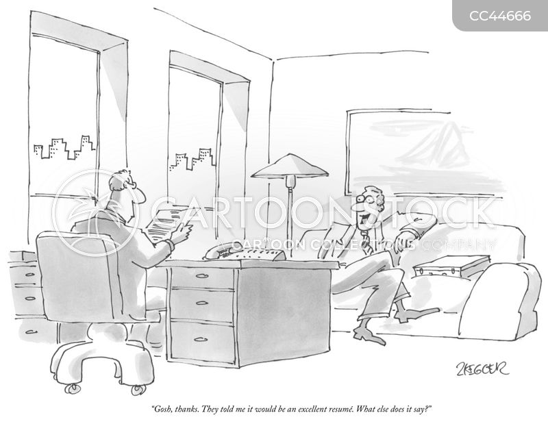 Resume Writer cartoon