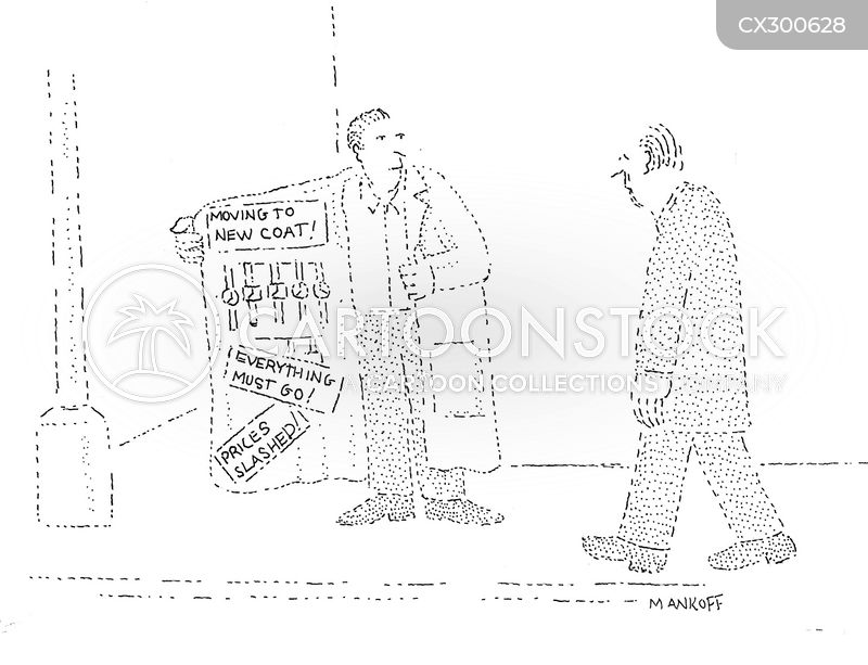 retail outlets cartoon