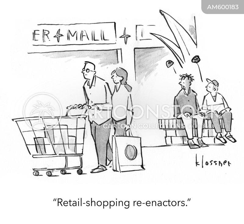 online shoppers cartoon
