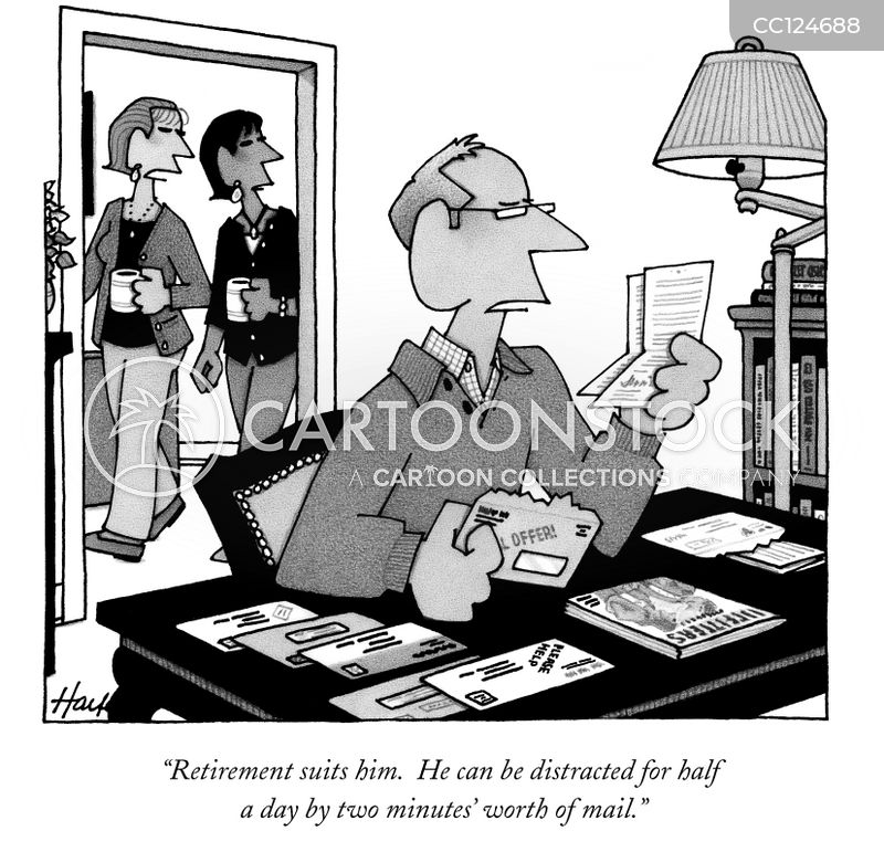 retire cartoon