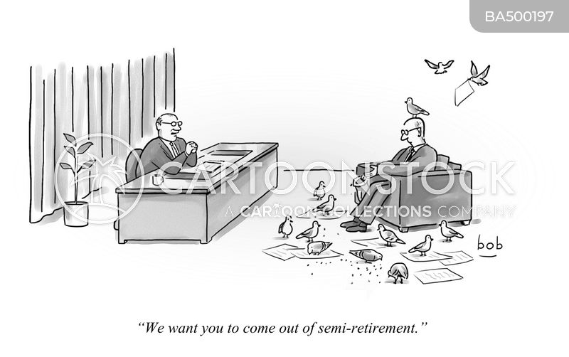 coming out of retirement cartoon