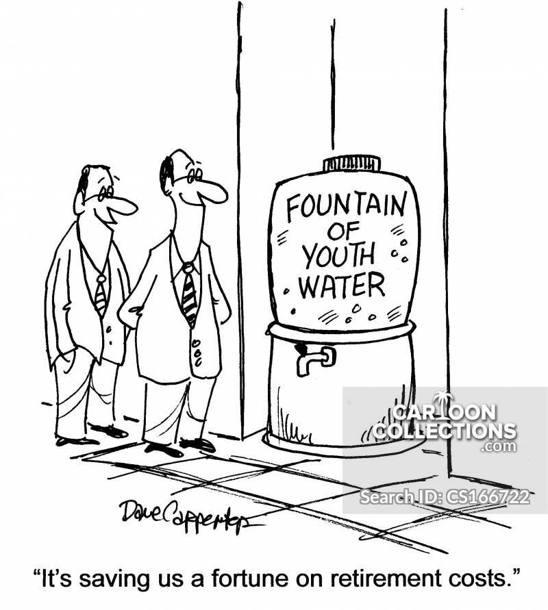 retirement costs cartoon