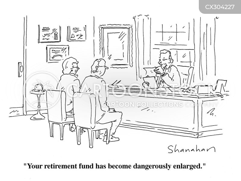 retirement savings cartoon