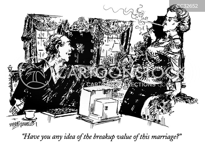 divorce settlements cartoon
