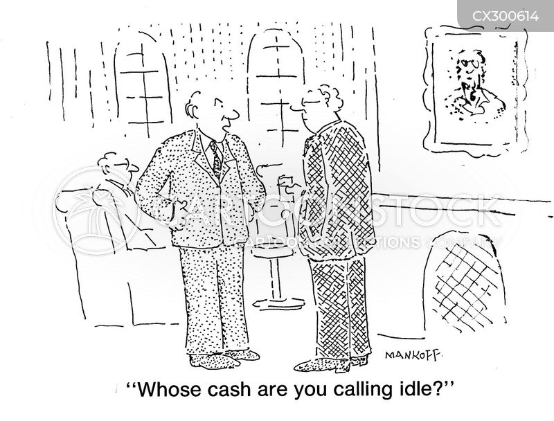 Idle Cash cartoon