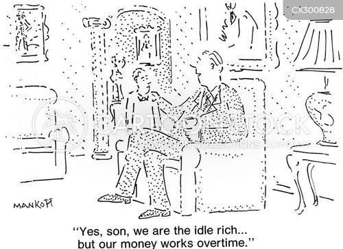 idle rich cartoon