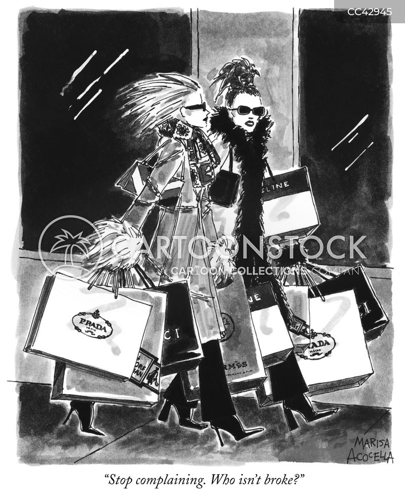 shopaholic cartoon