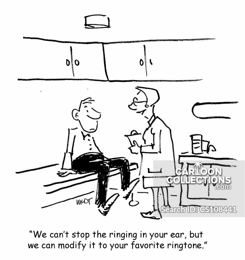 ringing ear cartoon