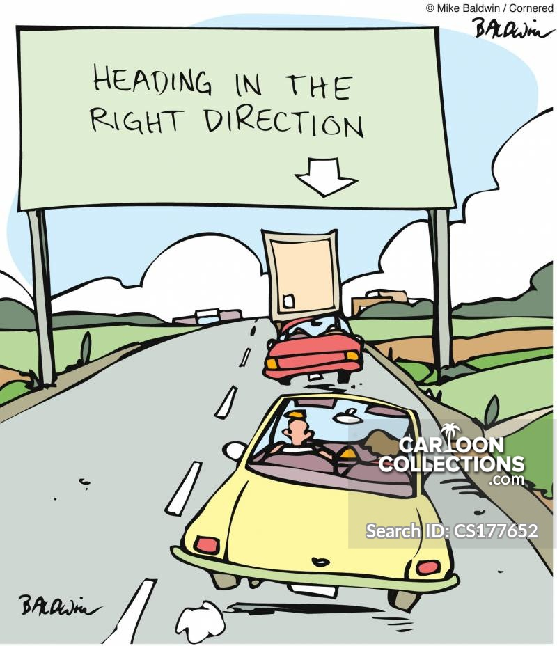 onthe right track cartoon