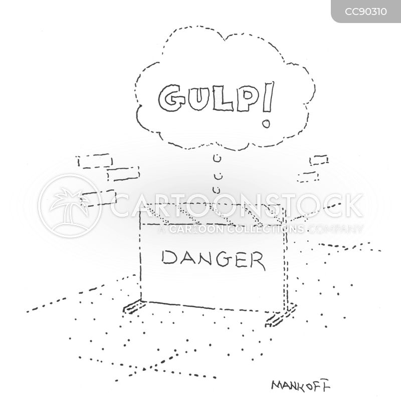 danger cartoon