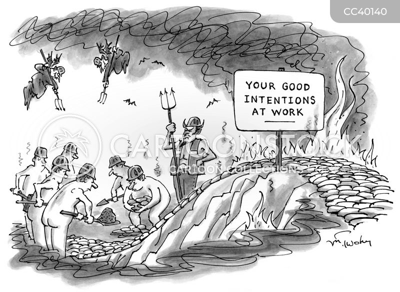 road to hell cartoon