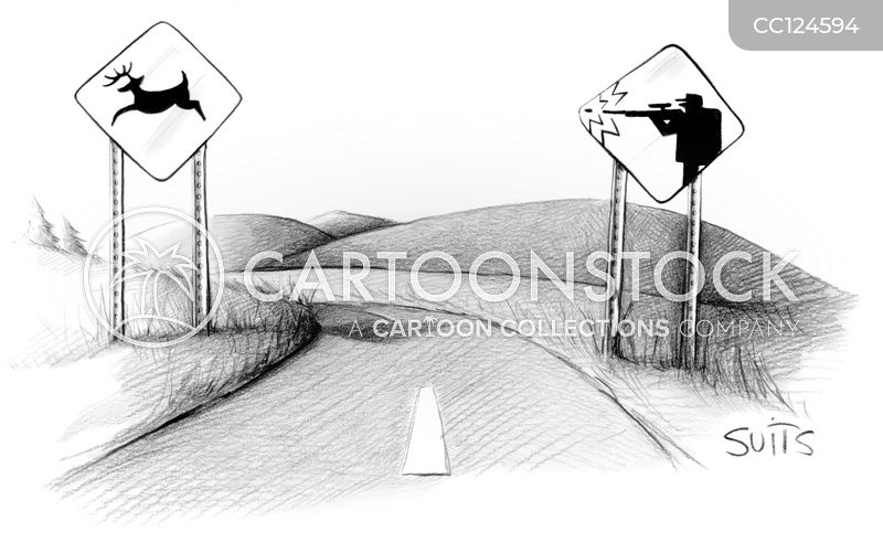 road crossings cartoon
