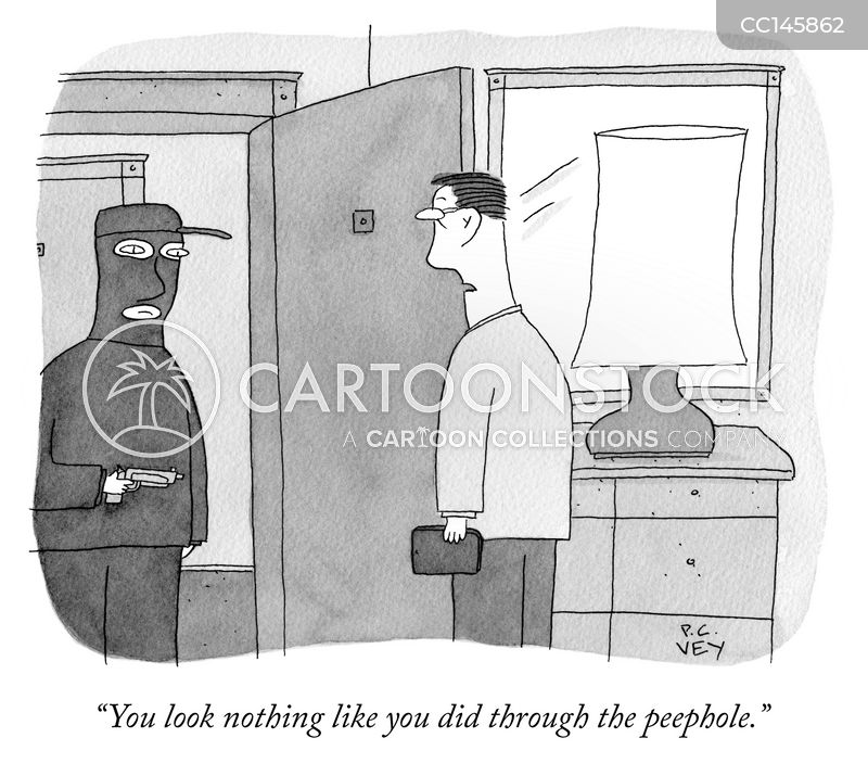 Robbing cartoon