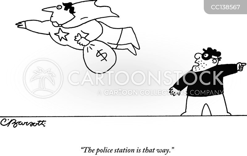 crime fighting cartoon