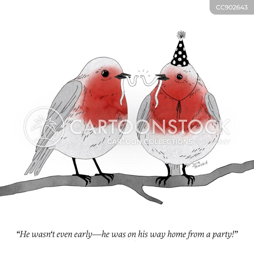 early bird catches the worm cartoon