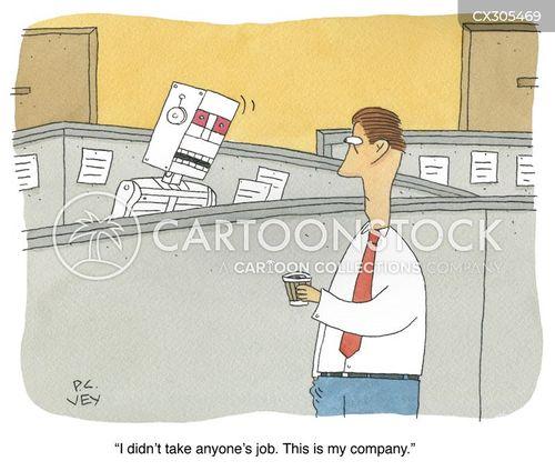 robot worker cartoon