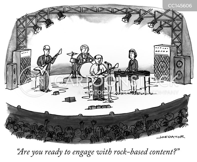 rock music cartoon