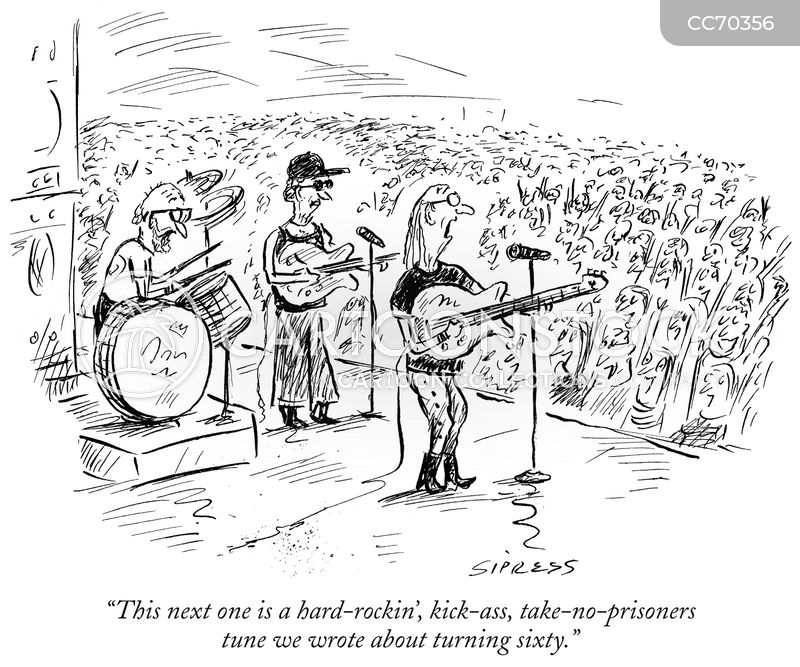 rock and roll cartoon