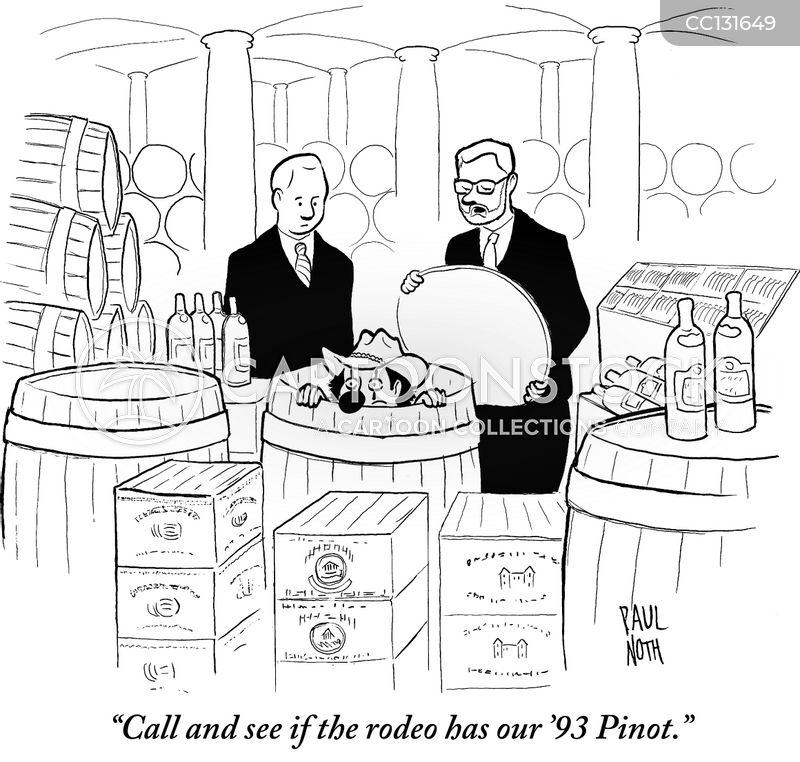 wine collections cartoon