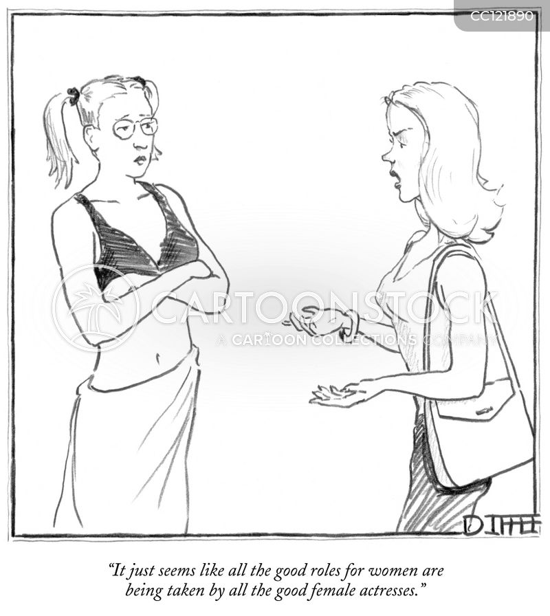 womens role cartoon