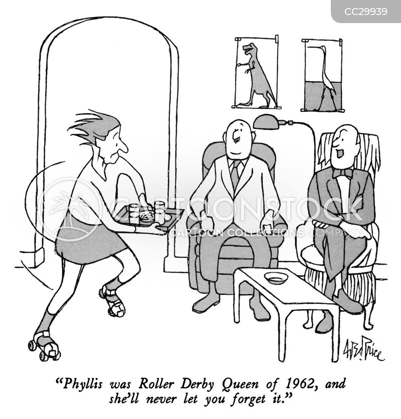 roller derbies cartoon