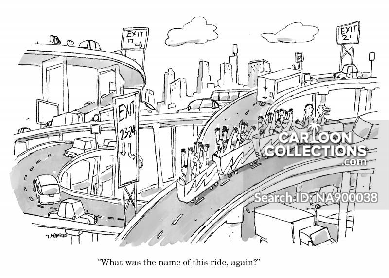 roller coaster cartoon