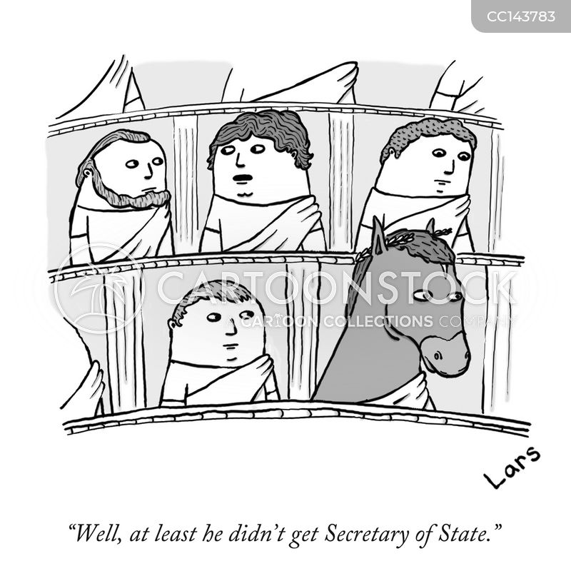 secretary of state cartoon