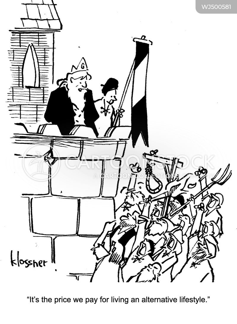 angry mob cartoon