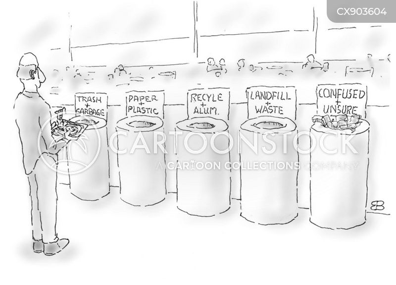 recyclables cartoon