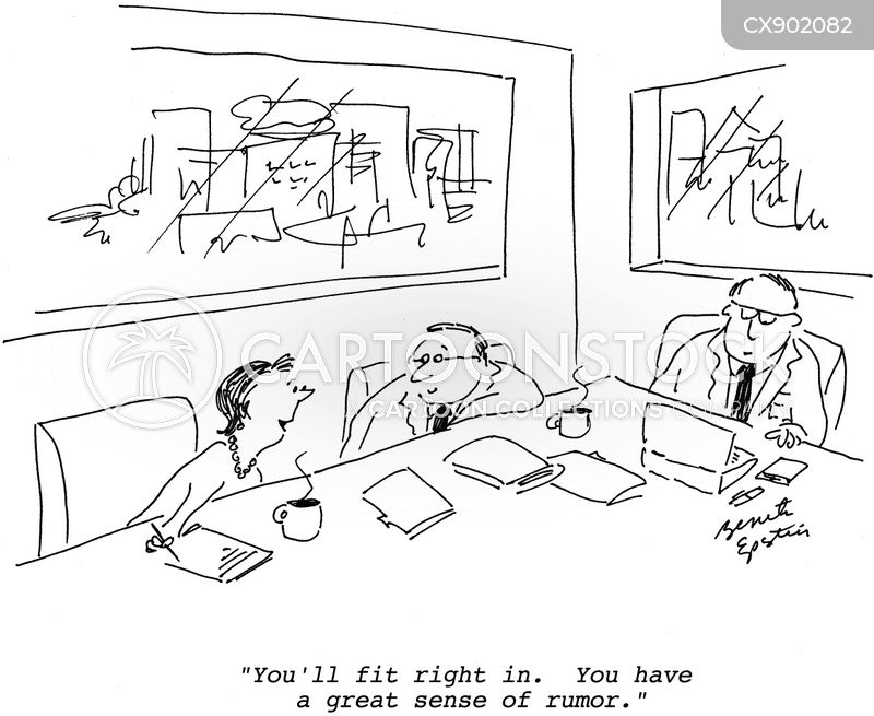 office gossip cartoon