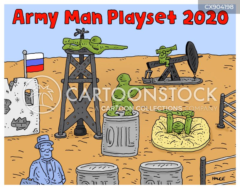 oil war cartoon