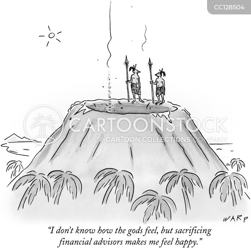 human sacrificing cartoon